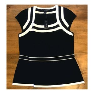 White House Black Market Peplum Top - Medium